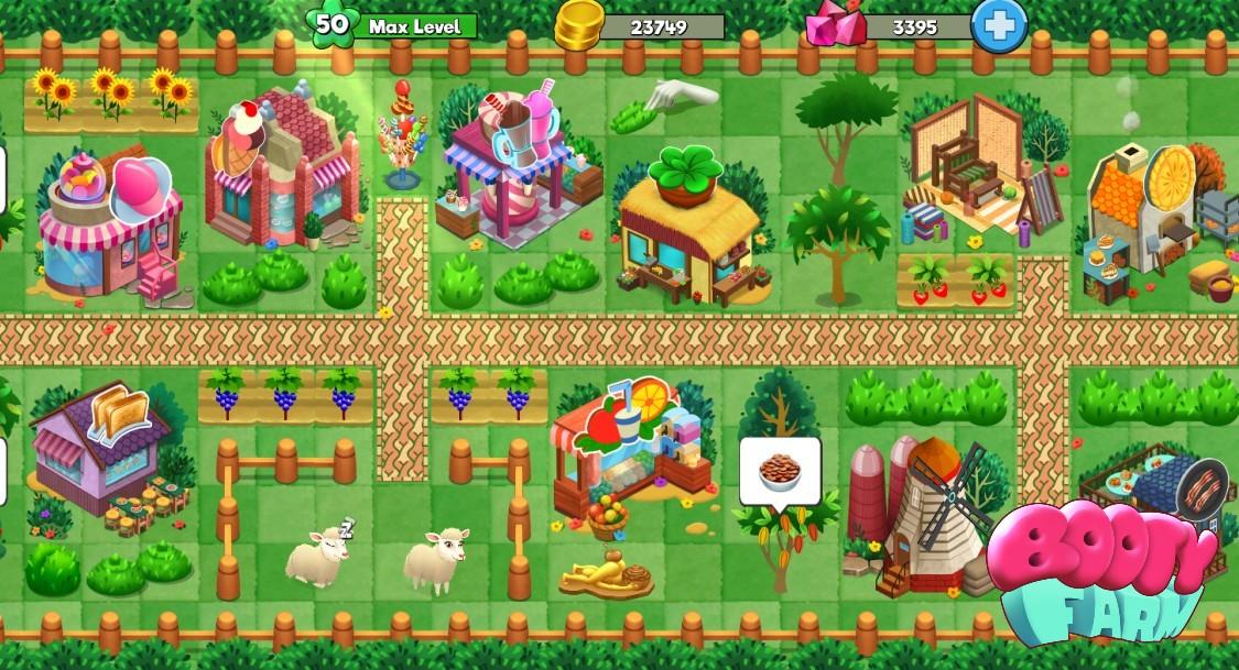 Booty Farm farm sim dating sim resource management casual meet seduce girls